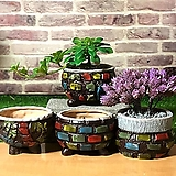 수제화분 모자이크(4color)|Handmade Flower pot