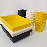 중형저면관수+사각플분2호세트 검정-노랑-백색
