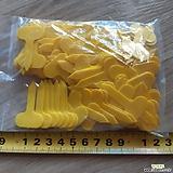 930ㆍ둥근이름표 2.5cm.노란색