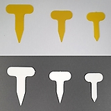 이름표,네임텍,타원T자형(약100개/5+1) 