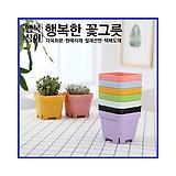 튼튼칼라슬릿플분 플라스틱화분 사각화분 행복상회 행복한꽃그릇|