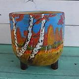 핑크수제화분-가을단풍 Handmade Flower pot