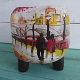 핑크수제화분-빗길속거리 Handmade Flower pot