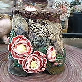 란 수제화분 세일 (LAN) 꽃코사지 No.003 [premium handmade] - 다육화분 Handmade Flower pot