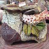 란 수제화분 세일 (LAN)  잎끝이 살짝 깨짐 꽃코사지 No.004 [premium handmade] - 다육화분 
