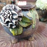 란 수제화분 세일 (LAN) 나뭇잎 끝이깨짐 꽃코사지 No.13 [premium handmade] - 다육화분 Handmade Flower pot