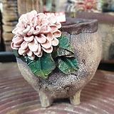란 수제화분 세일 (LAN) 나뭇잎 살짝 깨짐 꽃코사지 No.14 [premium handmade] - 다육화분 Handmade Flower pot