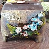 란 수제화분 세일 (LAN) 꽃코사지 No.15 [premium handmade] - 다육화분 Handmade Flower pot
