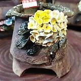 란 수제화분 세일 (LAN)도장없어요 꽃코사지 No.17 [premium handmade] - 다육화분 Handmade Flower pot