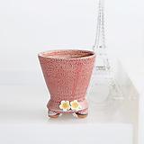 봄빛정원 꽃잎 트로피(인디핑크) - 최고급 수제 화분 작가도예-YS-소형-원형