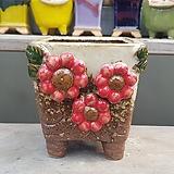 빨강색 수입 수제화분 다육이화분|Handmade Flower pot