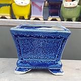 파랑색 사각 중형 수제화분 다육이화분|Handmade Flower pot