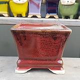 빨강색 사각 중형 수제화분 다육이화분|Handmade Flower pot