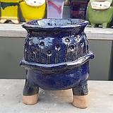 조은공방 청색 수제화분 다육이화분|Handmade Flower pot