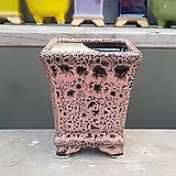 핑크색 사각 수제화분 다육이화분|Handmade Flower pot
