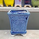 파랑색 사각 수제화분 다육이화분|Handmade Flower pot