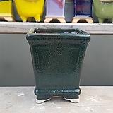 녹색 사각 수제화분 다육이화분|Handmade Flower pot
