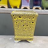 노랑색 사각 수제화분 다육이화분|Handmade Flower pot