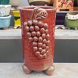 빨강 원형 롱 수제화분 다육이화분|Handmade Flower pot