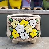 노랑색 원형 수제화분 다육이화분|Handmade Flower pot