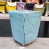 하늘색 직사각 수제화분 다육이화분|Handmade Flower pot