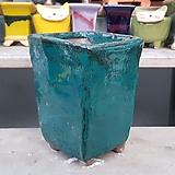 녹색 직사각 수제화분 다육이화분|