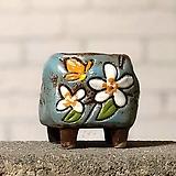수제화분토리5-2블루(미니화분)|Handmade Flower pot