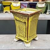 노랑색 중대형 수제화분 다육이화분|Handmade Flower pot