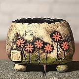 국산수제화분 도향#103(주황 라이트)|Handmade Flower pot