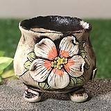 국산수제화분 도향#104(주황)|Handmade Flower pot