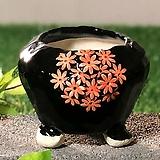 국산수제화분 도향 블랙에디션A(주황)|Handmade Flower pot