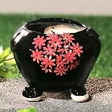 국산수제화분 도향 블랙에디션A(빨강)|Handmade Flower pot