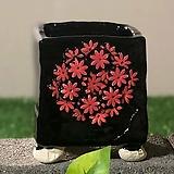 국산수제화분 도향 블랙에디션B(빨강)|Handmade Flower pot