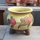 무광 꽃그림 수제화분 다육이화분4|Handmade Flower pot