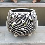 줄무늬 수제화분 다육이화분|Handmade Flower pot
