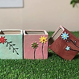 수제화분 들꽃사각(3color)|