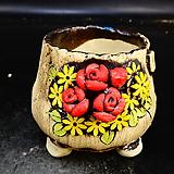 장미다육수제화분16|Handmade Flower pot