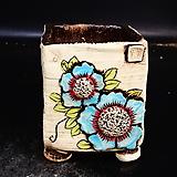 꽃사각수제화분45|Handmade Flower pot