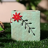 수제화분 들꽃사각(블루)|Handmade Flower pot
