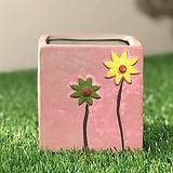 수제화분 들꽃사각(핑크)|Handmade Flower pot