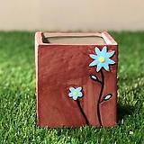수제화분 들꽃사각(브라운)|Handmade Flower pot