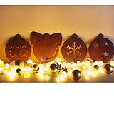 스틸데코 크리스마스볼 철제장식 인테리어|Echeveria Agavoides Christmas