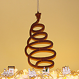 스틸데코 회오리트리 크리스마스 철제장식|Echeveria Agavoides Christmas