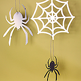 스틸데코 거미세트 모빌 할로윈 철제장식 인테리어|Aeonium Halloween