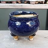파랑색 원형 수제화분 다육이화분 301|Handmade Flower pot