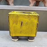 노랑색 소형 사각 다육이화분 303|