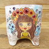 소향 수제화분(고급스톤/엔틱빈티지/전면그림)|Handmade Flower pot