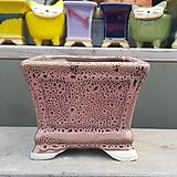 핑크색 사각 수제화분 다육이화분 207|Handmade Flower pot