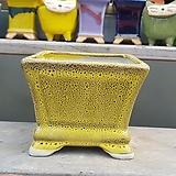 노랑색 사각 수제화분 다육이화분 207|Handmade Flower pot