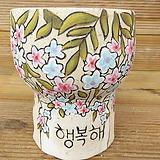 소향 수제화분(흑상감/중대사이즈/무시유)-18|Handmade Flower pot